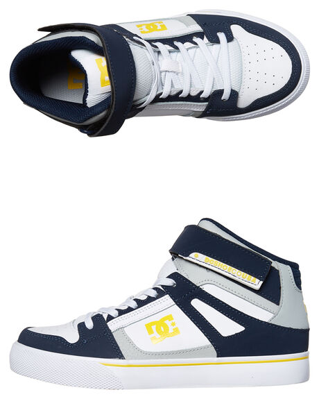 NAVY GREY KIDS BOYS DC SHOES SKATE SHOES - ADBS300324NGY