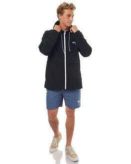 BLACK MENS CLOTHING STUSSY JACKETS - ST071500BLK