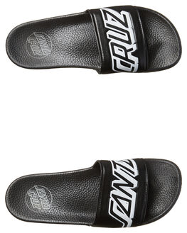 BLACK MENS FOOTWEAR SANTA CRUZ SLIDES - SC-MYC7635BLK