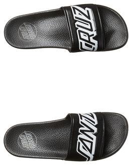 BLACK MENS FOOTWEAR SANTA CRUZ SLIDES - SC-MYC7635BLK