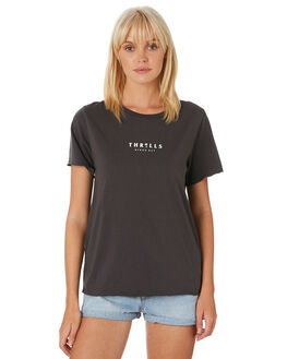 MERCH BLACK WOMENS CLOTHING THRILLS TEES - WTH9-114MBMBLK