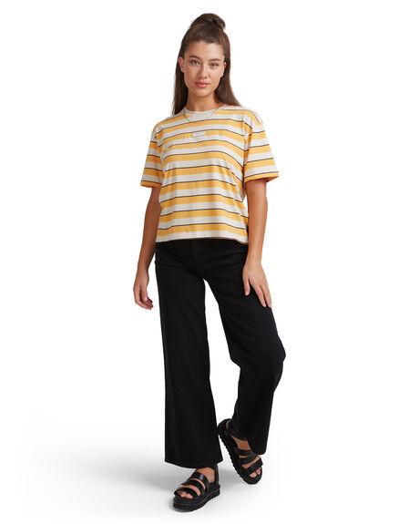 AMBER WOMENS CLOTHING RVCA TEES - R207681-A87