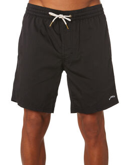 BLACK MENS CLOTHING BARNEY COOLS BOARDSHORTS - 808-CR4BLK