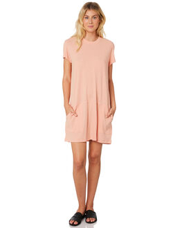 SHELL PINK WOMENS CLOTHING RUSTY DRESSES - DRL0952SHP