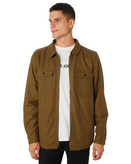 OLIVE GREEN MENS CLOTHING BANKS JACKETS - WJT0045OGR