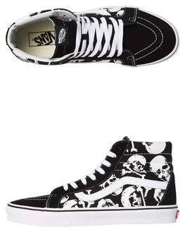 BLACK WHITE WOMENS FOOTWEAR VANS SNEAKERS - SSVNA2XSBH0BBLKW