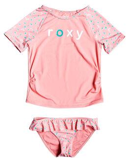 GERANIUM PINK KIDS GIRLS ROXY SWIMWEAR - ERLWR03119-MFZ6