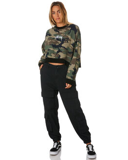 CAMO WOMENS CLOTHING STUSSY JUMPERS - ST196316CAMO