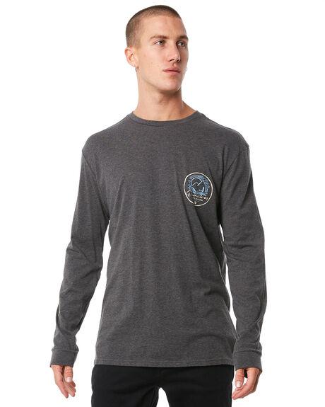 CHARCOAL HEATHER MENS CLOTHING QUIKSILVER TEES - EQMZT03078KTAH