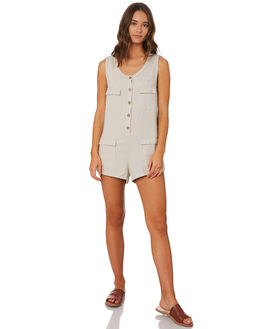 SAND WOMENS CLOTHING RHYTHM PLAYSUITS + OVERALLS - JUL19W-JS07SAND