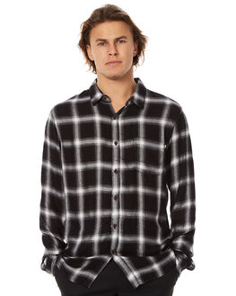 CHARCOAL MENS CLOTHING STUSSY SHIRTS - ST076400CHAR