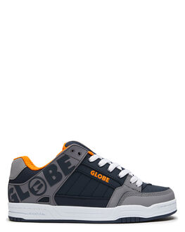 GREY NAVY ORANGE MENS FOOTWEAR GLOBE SKATE SHOES - GBTILTGRNVOR