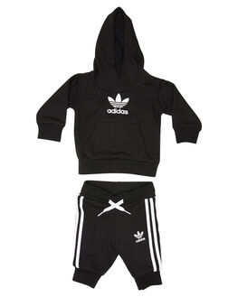 BLACK WHITE KIDS BOYS ADIDAS JUMPERS + JACKETS - DV2809BLKWH