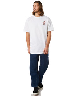 WHITE MENS CLOTHING PASS PORT TEES - DAYWWHT