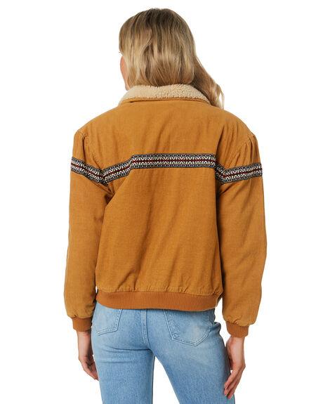 TAN CORD WOMENS CLOTHING WRANGLER JACKETS - W-951768-084
