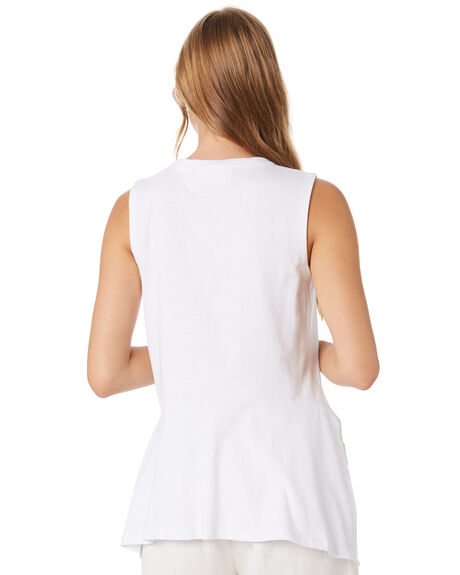 WHITE WOMENS CLOTHING GINGER AND SMART SINGLETS - R20114WHT
