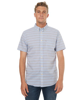 BLUE WHITE MENS CLOTHING ACADEMY BRAND SHIRTS - 18S890BWHT