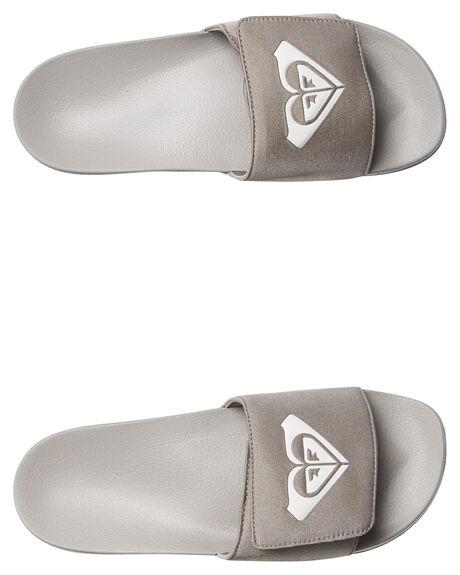 GREY ASH WOMENS FOOTWEAR ROXY SLIDES - ARJL100652GRA