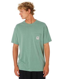 SEA FOAM MENS CLOTHING STUSSY TEES - ST005002SFM
