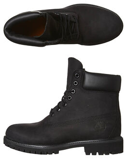 BLACK MENS FOOTWEAR TIMBERLAND BOOTS - 10073BLK