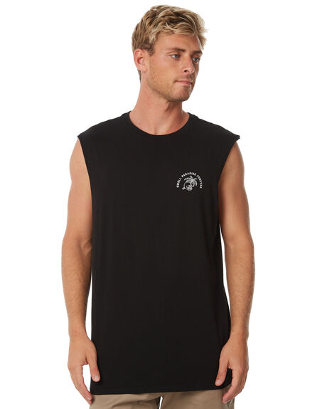 BLACK MENS CLOTHING SWELL SINGLETS - S5184272BLACK