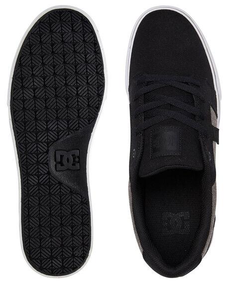 BLACK/HERRINGBONE MENS FOOTWEAR DC SHOES SNEAKERS - ADYS300036-KHB