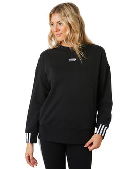BLACK WOMENS CLOTHING ADIDAS JUMPERS - ED5845BLK