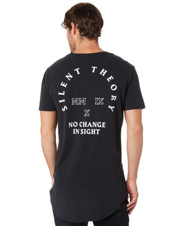 WASHED BLACK MENS CLOTHING SILENT THEORY TEES - 4033004BLK