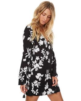 BLACK FLOWER WOMENS CLOTHING RUE STIIC DRESSES - CC32BLK