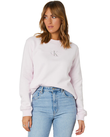 PEARLY PINK WOMENS CLOTHING CALVIN KLEIN JUMPERS - J20J215485TN9