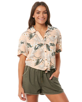 PEACH TROPICAL WOMENS CLOTHING O'NEILL FASHION TOPS - 4722801-25C