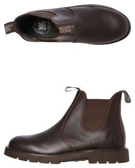 BROWN LEATHER WOMENS FOOTWEAR ROC BOOTS AUSTRALIA BOOTS - JUMBUKBRN