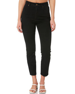 COMFORT JET BLACK WOMENS CLOTHING ROLLAS JEANS - 128603775