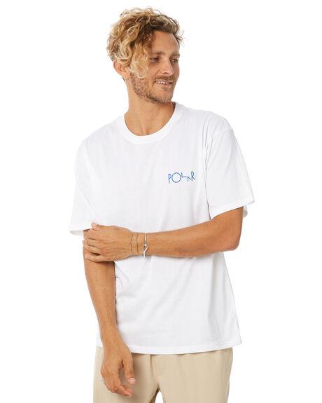 WHITE MENS CLOTHING POLAR SKATE CO. TEES - FILLOGOWHT