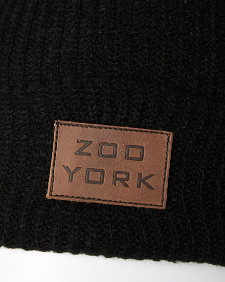 BLACK MENS ACCESSORIES ZOO YORK HEADWEAR - ZY-MCA8188BLK