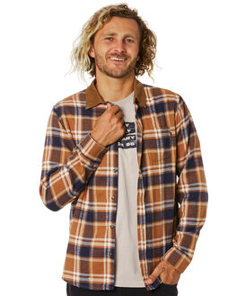 FEATHER GREY MENS CLOTHING RUSTY SHIRTS - WSM0921FTG