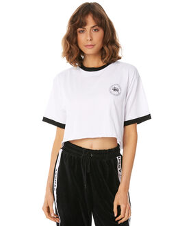WHITE WOMENS CLOTHING STUSSY TEES - ST182007WHT