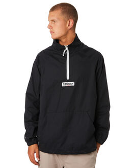 BLACK MENS CLOTHING STUSSY JACKETS - ST096503BLACK