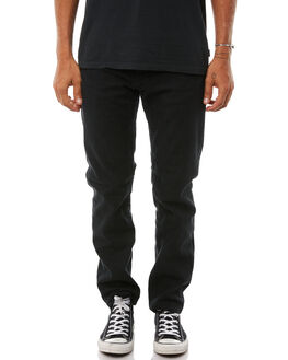 BLACK MENS CLOTHING AFENDS JEANS - M181450BLK