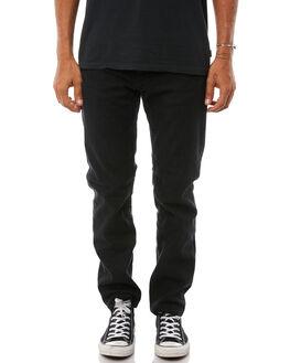 BLACK MENS CLOTHING AFENDS JEANS - M181450BLK