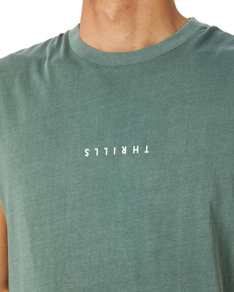 LUME GREEN MENS CLOTHING THRILLS SINGLETS - TH20-108FLMGRN