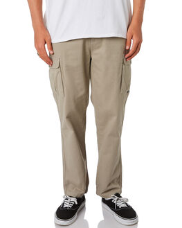 WASHED OLIVE MENS CLOTHING DEPACTUS PANTS - D5201191WSHOL