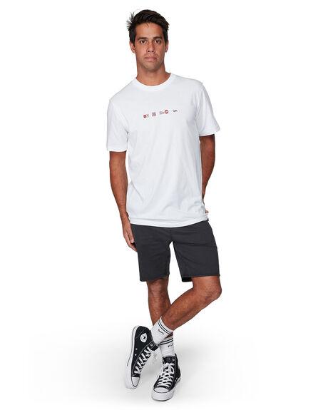 WHITE MENS CLOTHING RVCA TEES - RV-R107049-WHT