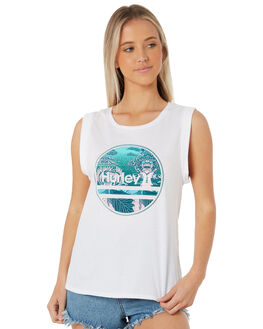 WHITE WOMENS CLOTHING HURLEY SINGLETS - AGSIFNS-100