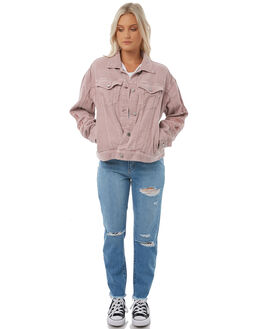 DUSTY PINK WOMENS CLOTHING STUSSY JACKETS - ST185707DUS