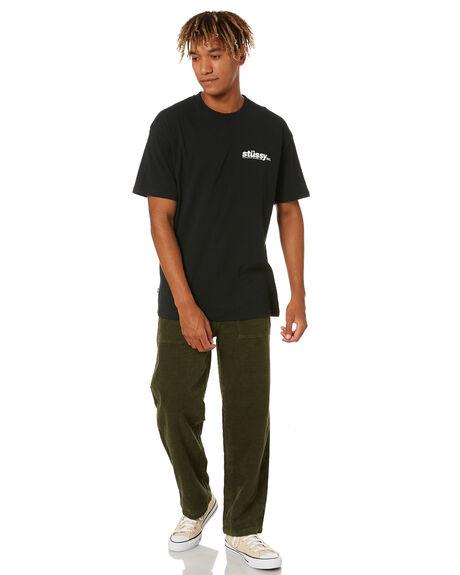 BLACK MENS CLOTHING STUSSY TEES - ST001002BLK