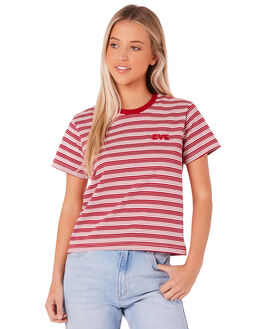 RED WOMENS CLOTHING ALL ABOUT EVE TEES - 6414036RED