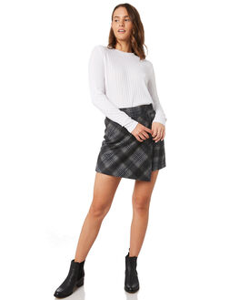 CHARCOAL PLAID WOMENS CLOTHING ALL ABOUT EVE SKIRTS - 6433036CHK