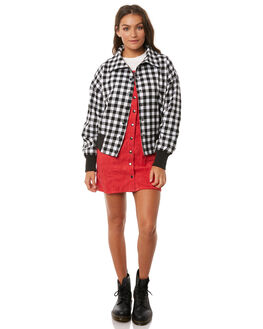BLACK W WHITE WOMENS CLOTHING THE FIFTH LABEL JACKETS - 40180365BLKWH