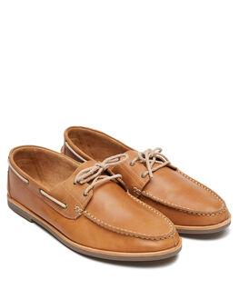 TAN OILY LEATHER MENS FOOTWEAR URGE FASHION SHOES - URG19075TOL